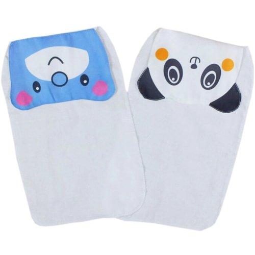 2 Cute Bear/Panda Baby Cotton Gauze Towel Wipe Sweat Absorbent Cloth Mat Towel