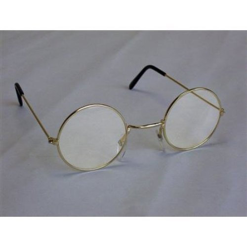 71a2187592 John Lennon Spectacle Glasses With Clear Lens - Fancy Dress Round Granny  Hippy - glasses fancy dress lennon round john granny hippy 60s 70s ozzy on  OnBuy