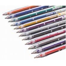12pcs Pretty Color Gel Ink Pens Marker Pen Highlighters Shiny