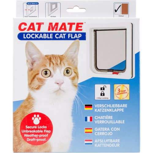 Cat Mate Lockable Cat Flap-White