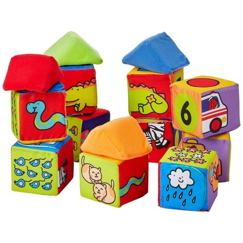 Melissa & Doug Kids Soft Set Match and Build Blocks