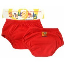 Bright Bots 2pk Washable Training Pants Red