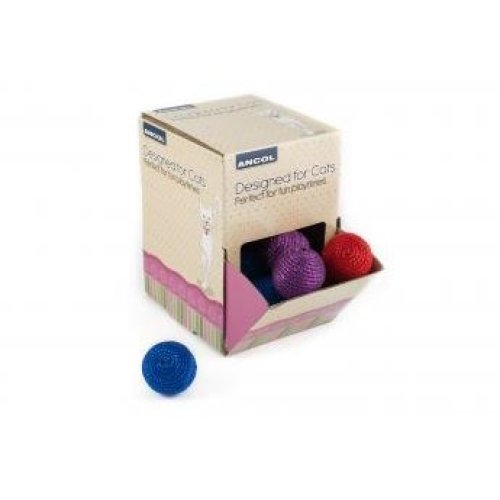 Designed For Cats Display Box Coloured Balls (Pack of 36)