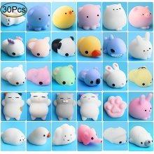 Mochi Animals Stress Toys, Outee 30 Pcs Mochi Squishy Toy
