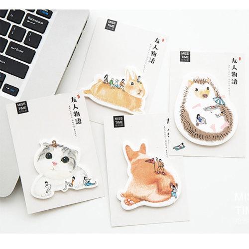 Adorable Garden Animals Sticky Notes (A Set of 4 Designs)