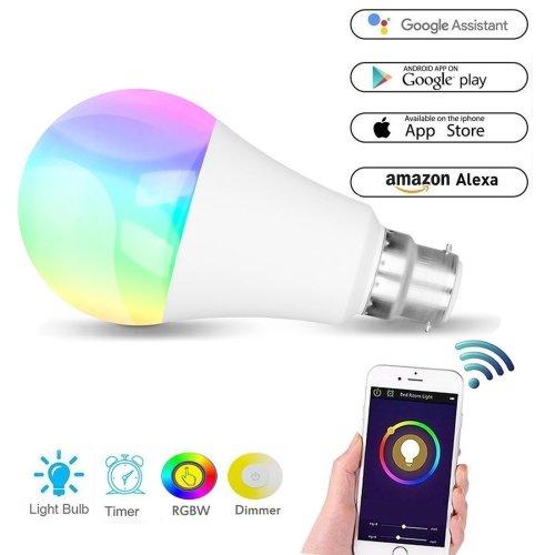 Tingkam WiFi B22 Led Smart Bulb mood light, 6 W RGBW Colour Changing Lamp