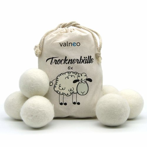 6 Valneo Sheep's Wool Dryer Balls | Natural Dryer Balls