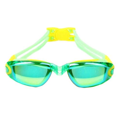 Green Electroplating Lenses Glasses Anti-fog Swimming Goggles For Children