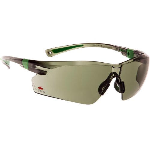 NoCry Work and Sport Safety Sunglasses with Green Tinted Scratch Resistant Wrap-Around Lenses and No-Slip Grips, UV 400 Protection. Adjustable,...