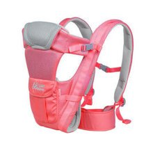Soft Polyester Baby Carrier Child Baby Holding Belt Breathe Freely Rose Red