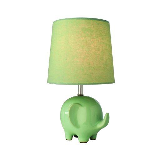 Ceramic Mint Green Elephant Children's Table/Bedside Lamp