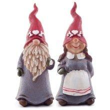 Hans & Erica the Set of 2 13cm Christmas Gnome Ornaments