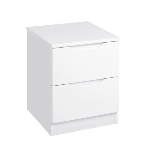 Torino Quality Fully Assembled 2 Drawer Bedside Table