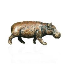 Bronze Hippo Animal Figure - Butler & Peach - 2006.