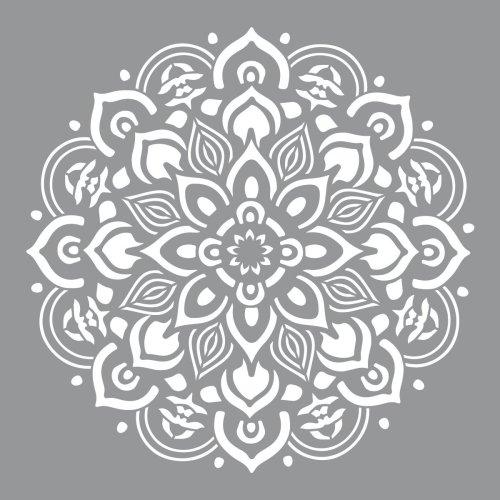 "Americana Decor Stencil 12""X12""-Mandala"