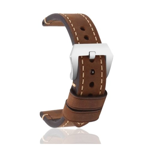Replacement Strap Genuine Leather Large Stainless Steel Buckle