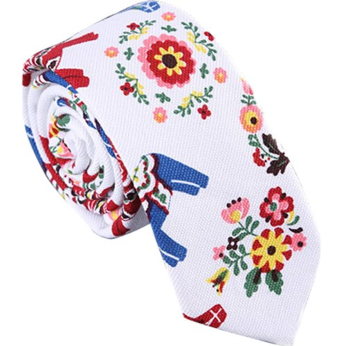 Man Necktie Cotton Fashion Personality Color Of Tie Skinny Neckties A
