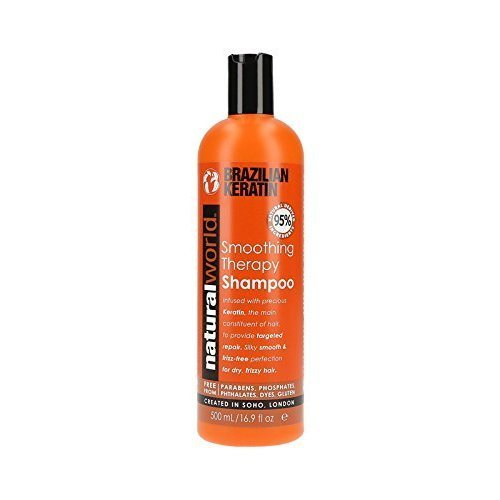 Organic World 500ml Brazilian Keratin Smoothing Therapy Frizz Free for Dry Hair Shampoo