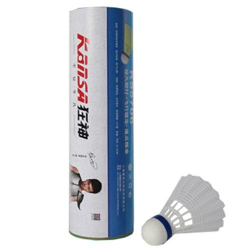 6PCS Training Sport White Nylon Plastic Badminton Shuttlecocks