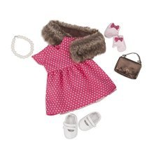 Our Generation Deluxe Retro Doll Outfit - Polka Dot Dress