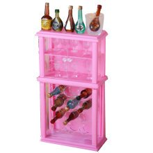 Luxurious 11.5'' Doll Living Room Furniture Set-Wine Rack