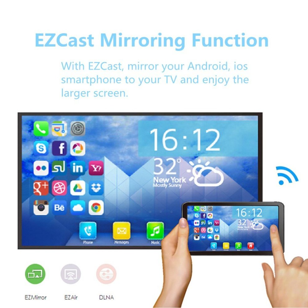 ezcast 2 4g 5g smart tv stick wireless wifi dongle display receiver