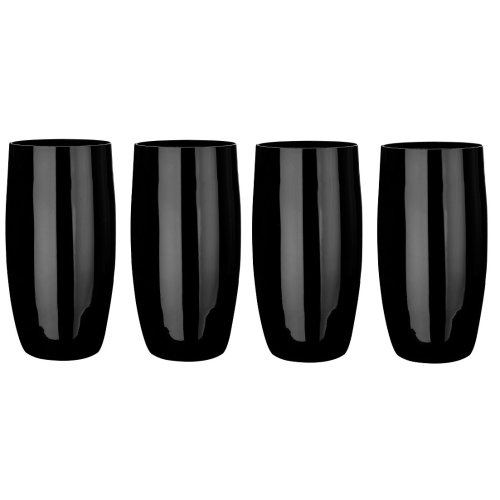 Hi-Ball Glasses - Black, Set of 4