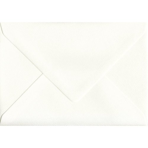 Ivory Silk Gummed A5 Coloured Ivory Envelopes. 110gsm GF Smith Accent Paper. 152mm x 216mm. Banker Style Envelope.
