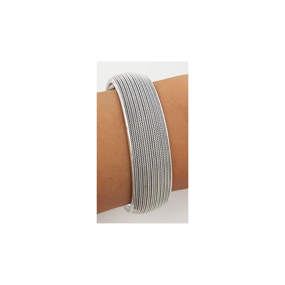 551d3d77bcb FAB Women's 925 Silver Bangle Bracelet 35.5grams on OnBuy