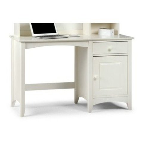 Treck White Stone Desk - 1 Door 1 Drawer - Fully Assembled Option Fully Assembled(+23) Chair(+50) Assembled Hutch (+164.99)