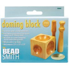Wood Doming Block & Punches For Jewellery Making -  block wood doming punches 2 225x225x225
