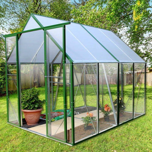 Walk In Solid Plastic Glazed Greenhouse