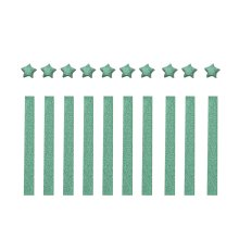 Green Origami Paper Lucky Wish Stars Folding Paper - 300 Sheets