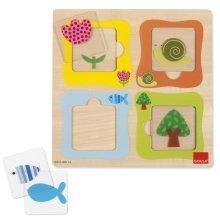 Goula Transparencies Wooden Puzzle (8 Pieces)