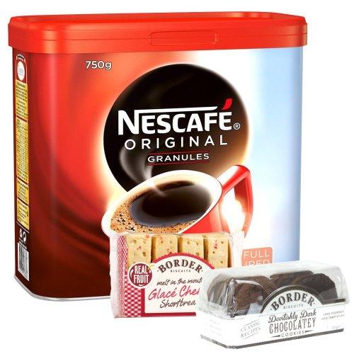 Nescafe Original Coffee Granules Tin 750g (2 Free Border Biscuits)