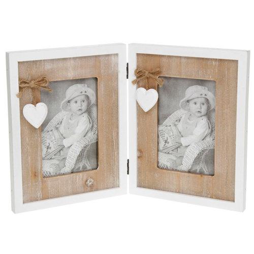 Provence Heart Double Photo Frame - 4 x 6