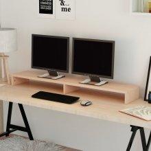 vidaXL Monitor Stand Chipboard 118x23.5x9 cm Beige