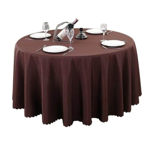Classical Hotel Tablecloth Round Table Cloth Banquet Table Linen, Brown