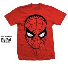 Marvel Comics Men's Spider Man Short Sleeve T-shirt, Red, X-large