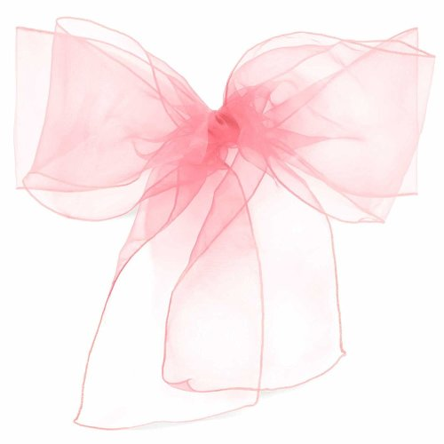 Light Pink Organza Sash | Baby Pink Organza Chair Decoration