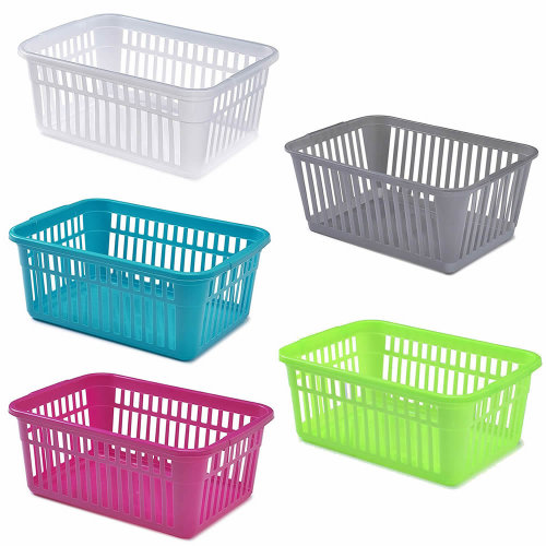 Small Large Rectangle Home House Kitchen Office Study Plastic Storage Basket Box