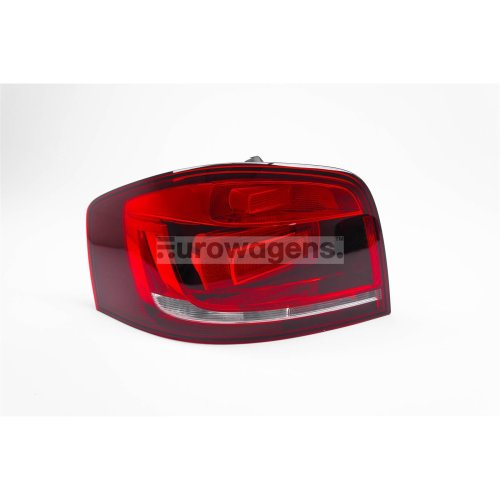 Rear light left dark red Audi A3 10-12 3 door
