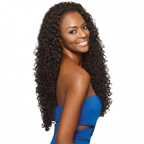 Outre Quick Weave Synthetic Half Wig  Penny 26 (1 Jet Black)