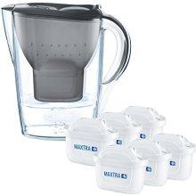(Grey) BRITA Marella Cool Water Jug & 6 MAXTRA+ Filters