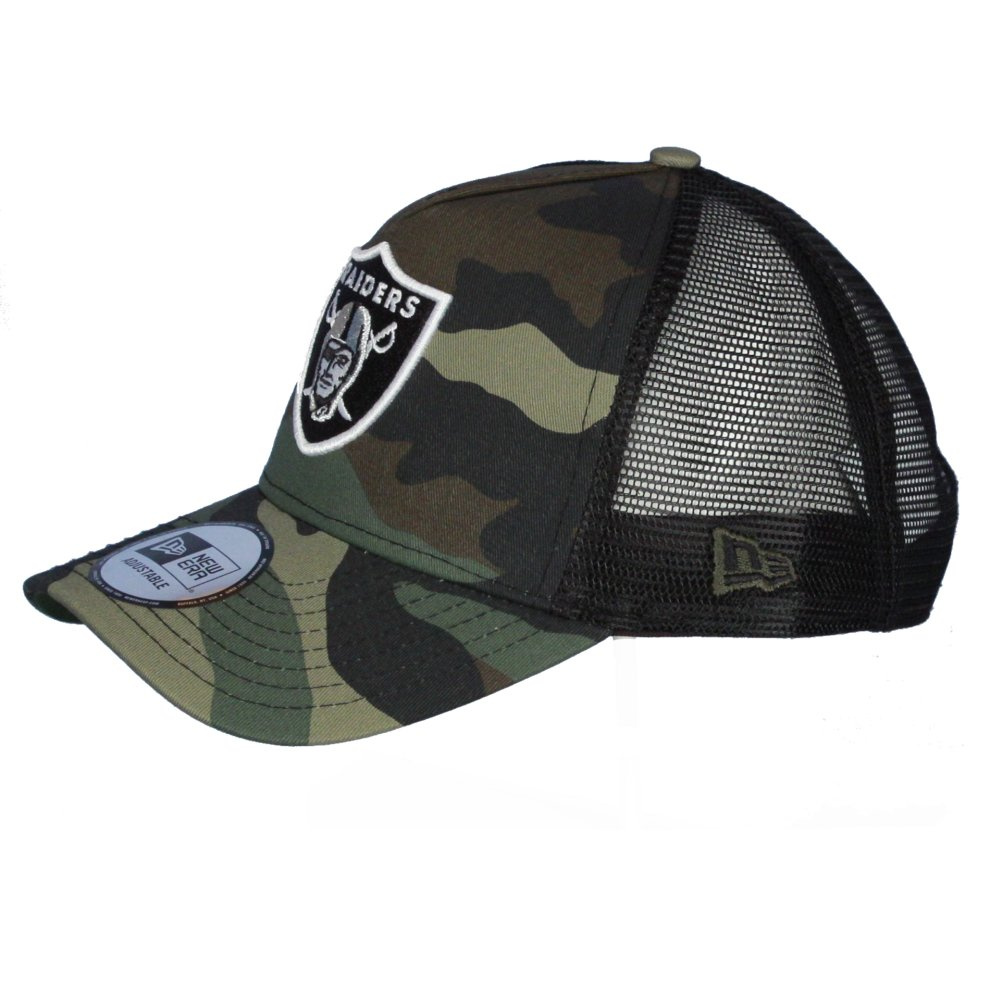 6a8cc696a4a187 ... New Era Camo Team Adjustable Trucker Cap ~ Oakland Raiders - 1. >