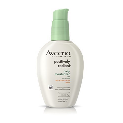 Aveeno Positively Radiant Daily Moisturizer With Sunscreen Broad Spectrum Spf 15, 4 oz.