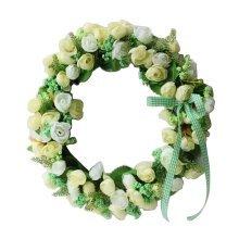 Artificial Wreath Hanging Floral Garland Door Wreath Wedding Decor #07