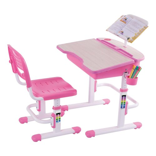 Outstanding Chacha Pink Height Adjustable Kids Desk Bookstand Chair Gmtry Best Dining Table And Chair Ideas Images Gmtryco