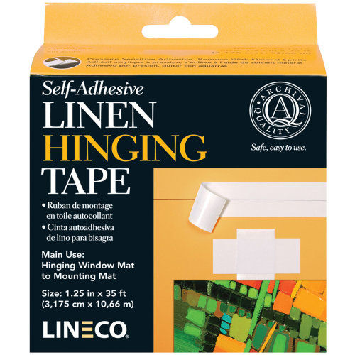"Lineco Self-Adhesive Linen Hinging Tape-White 1.25""X35'"