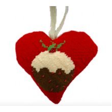 Christmas Pudding Heart Christmas Tapestry Kit